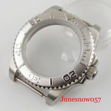 Stainless Watch Case Fit NH35 Movement Transparent Backcover Sapphire Crystal