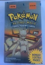 Pokemon The First Movie 1999 Topps Trading Cards Booster Box Black Logo