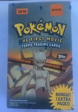 Pokemon The First Movie 1999 Topps Trading Cards Booster Box Set Black Logo