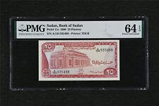 1980 Sudan Bank Of Sudan 25 Piastres Pick#11c PMG 64 EPQ Choice UNC