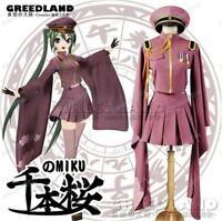 Senbonzakura Vocaloid Hatsune Miku Cosplay Costume Military Uniforms Army Outfit