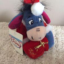 Bnwt Disney Store Mini Bean Bag Santa Eeyore  Beanie Soft Toy Plush Winnie Pooh