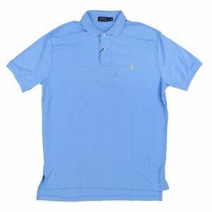 Polo Ralph Lauren Mens Polo Shirt Collared Top Interlock Light Blue L Damaged