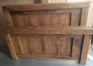 NEW SOLID WOOD RUSTIC CHUNKY DOUBLE , KING-SIZE, SUPER-KING PANEL BED WOODEN BED