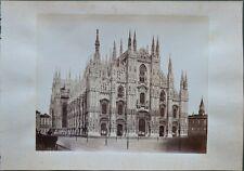 MILANO. Tre foto stampate all'albumina e databili attorno al 1880
