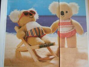 Vintage SEWING PATTERN Jean Greenhowe CUDDLY KOALAS Teddy Bear  TOY