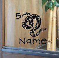 Snake Customised Vivarium  Sticker  #5 Boa Python Corn Hognose Tree