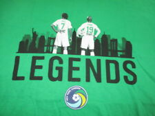 NEW YORK COSMOS Legends RAUL No 7 and SENNA No 19 (XL) U T-Shirt