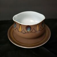Casual Ceram Mid Century Stoneware Dinnerware Ballet Pattern Japan Gravy Boat