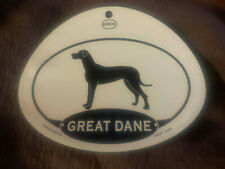Euro Great Dane Dog Oval Decal