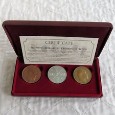 More details for 1902 edward vii proof pattern double florin boxed set - silver copper bronze
