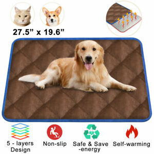 Thermal Mat - Brown Self Warming Heating Hot Pad for Pets For Cat and Dog Bed