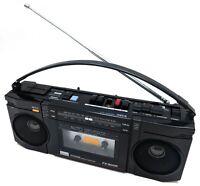 Vintage Sansui FX-300R AM/FM Auto Reverse Cassette Recorder Mini Boombox AS-IS