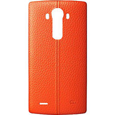 LG Genuine Leather Battery Cover OEM Back Cover LG G4 - Orange Leather