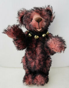 "Ann Inman Looms ""Talking Bert"" 16"" LE artist teddy bear 1995 mohair Handmade"