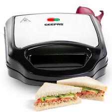 Geepas Toastie Maker 2 Slice Sandwich Toaster Machine Non-Stick Easy Clean 700W