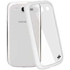 AMZER WHITE SLIMGRIP HYBRID BACK COVER BUMPER CASE FOR SAMSUNG GALAXY S 3 III