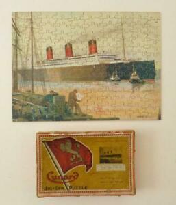 """CUNARD """"RMS BERENGARIA"""" - 1930s Wooden JIGSAW PUZZLE by CHAD VALLEY, 150pcs"""