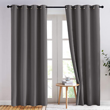 NICETOWN Blackout Curtains Panels for Bedroom - 3 Pass Microfiber Noise Reducing