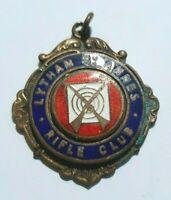 Vintage Lytham St Annes Rifle Club Medal - Brass Enamel - Lancashire