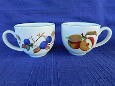 Royal Worcester Evesham Vale FLAT CUPS (set of TWO) 2  ENGLAND have more items