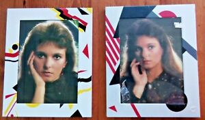 Vintage Photo Frames x 2 items 1980s Retro 10 x 8 inch White with bold 80s print