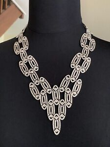 Beautiful Vintage CARLO ZINI Evening Rhinestones Necklace, Signed -