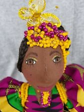 African cloth doll Maria Kwestionmark# 242 African bright cotton print