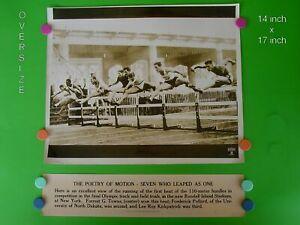 1936 OLYMPIC TRACK & FIELD TRIALS - 14 x 17 B & W Dispatch News Photo & Banner