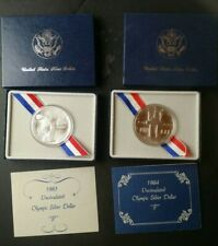 1983 P and 1984 P $1 Los Angeles Olympics Commemorative Silver Dollars