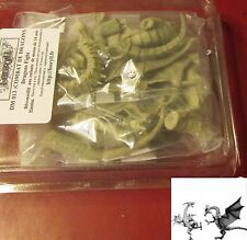 Fenryll DM013 Dragons Fight (2) Miniatures Winged Drakes in Combat Fighting NOS