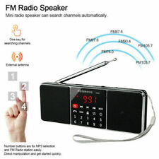 Portable FM Stereo/AM Radio Bluetooth Sup Bass Multimedia Speaker Sleep Timer