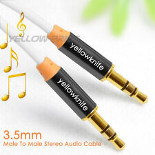 Yellowknife 1M Zinc Aux Auxiliary Cable Stereo Audio Lead 3.5mm Cord Male Plug