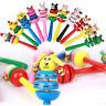Tier Rassel Baby Kinder Handbells musikalische Entwicklungs Holzspielzeug  X
