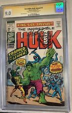 INCREDIBLE HULK Annual #3 CGC SS 9.0 Signed & SKETCHED by Herb Trimpe MARVEL