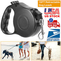 16FT 5M Automatic Retractable Puppy Pet Dog Cat Traction Rope Walking Lead Leash
