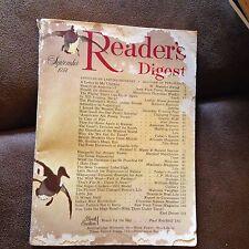 Vintage Reader's Digest September 1954 Paul Brickhill, Saturday Evening Post