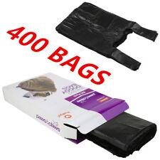 400 X NEW SCENTED DOG POO POOP LITTER WASTE DISPOSAL BAGS BLACK TIE HANDLES AP