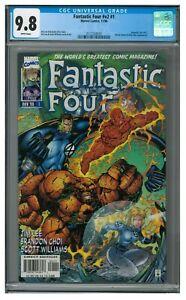 Fantastic Four v2, #1 (1996) (#417) Jim Lee Cover Marvel Comics CGC 9.8 CU161
