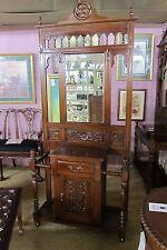 Hall Tree Mahogany w/Mirror