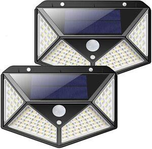 2 Pezzi Lampada Solare con 82 LED, Super Luminosa Luce Solare da Esterno IP65
