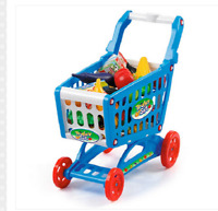 51 Pieces Supermarket Shopping Trolley Set Kids Role Playing Activity Toy Gift