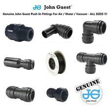 JOHN GUEST 6mm 8mm 10mm 12mm PUSH FIT pneumatiques, eau, air, tuyau, pompe