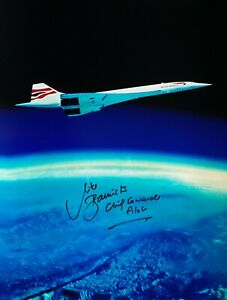 CONCORDE FLYIING OVER THE CURVATURE OF THE EARTH AT 60,000 FEET SIGNED 16X12