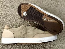 "AKADEMIKS ATHLETIC SHOE ""LIZARD PRINT"" PREMIUM LEATHER KHAKI-BEIGE SZ 11.5"