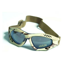 Commando AIR PRO Goggles - DESERT CAMOUFLAGE TINTED Airsoft Paintball Army