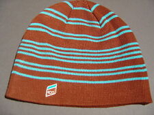 ABERCROMBIE HOLLISTER BROWN BLUE BEANIE HAT SKI CAP - 9