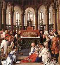 Weyden Exhumation Of St Hubert A4 Print