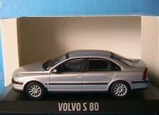 VOLVO S80 SILVER METAL 1999 MINICHAMPS 1/43 SALOON BERLINE 4 PORTES FOUR DOORS