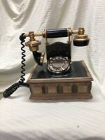 Deco Tel Rotary Telephone Black & Gold Vintage Collectable 1330-B